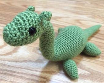 Nessie the Loch Ness Monster, Crochet Nessie, Amigurumi Nessie, Loch Ness Monster Plush, Crochet Loch Ness Monster, Plesiosaur Plush, Nessie