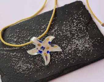 Starfish pendant White Sea