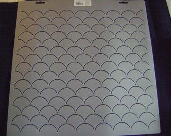 Sashiko Japanese Quilting/Embroidery Stencil 2 in. Clamshells 16 in. wide by 15. Long Background Motif Block/Quilting/777