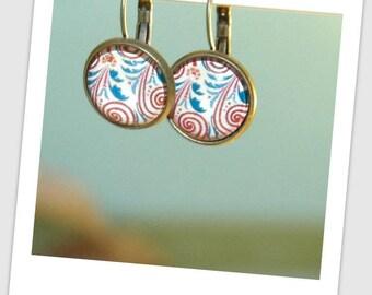 15mm bronze cabochon earrings
