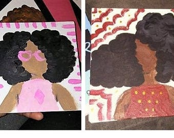 Two Tiny Fro Paintings