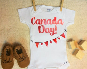 Canada Day Onesie ®, Canada Onesie ®, Canadian Onesie ®, Canada Day, Maple Leaf Onesie ®, Custom Onesie, Happy Canada Day, Canadian Girl