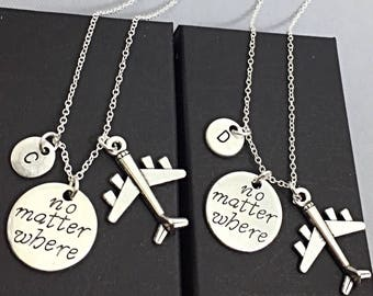 Best Friend for 2 Necklaces, Friendship Necklaces,Best Friend Distance Necklaces, Distance Jewelry, Personalized necklace set of 2Friendship
