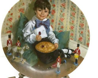 Reco Collector Plate, Little Jack Horner, made by Reco in 1982, Limited Edition  Christmas Decor