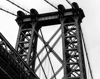 Black and White Photography, New York Photography, The Williamsburg Bridge