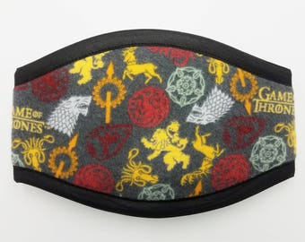 GAME OF THRONES Premium Belly band  / Your Choice Border Color / Dog Diaper /Dog Potty Training Aid / Incontinence Wrap Male Dog Puppy