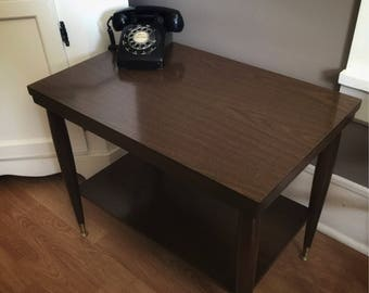 Vintage Mersman Two Tier Table / Mersman 8196 / Mid Century Table