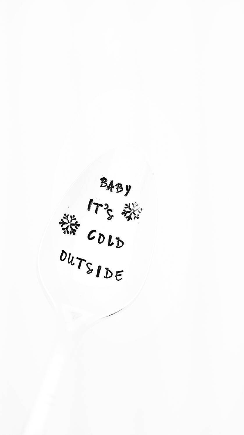 Baby it\'s Cold Outside Spoon / Christmas Song / Christmas Table ...