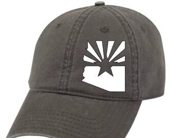 Arizona Flag Hat, Arizona Trucker Hat, Arizona State outline