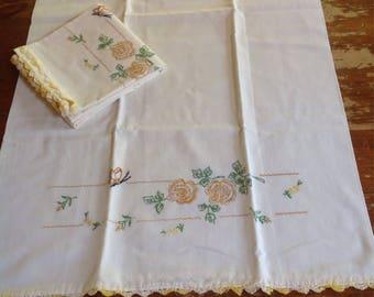Vintage pillowcases