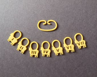 Counting Sheep -- 10 Sets of 3D Printed Stitch Markers in One Color | Made-to-Order | Bulk Order
