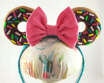 Minnie Mouse Dount Ears Headband -  MADE TO ORDER