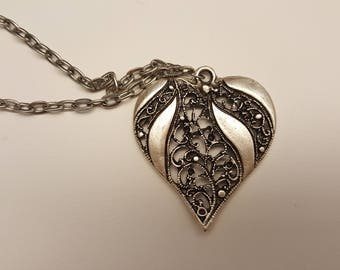 Silver Heart Pendant Necklace
