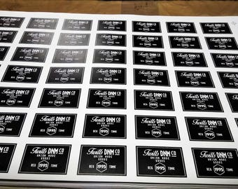 "Custom heat transfer label size 2""× 3"""