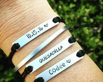 25 hand stamped bracelets needed by asap