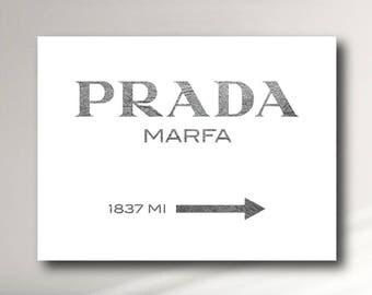 Prada Marfa Canvas Print Textured Bright White - GOSSIP GIRL
