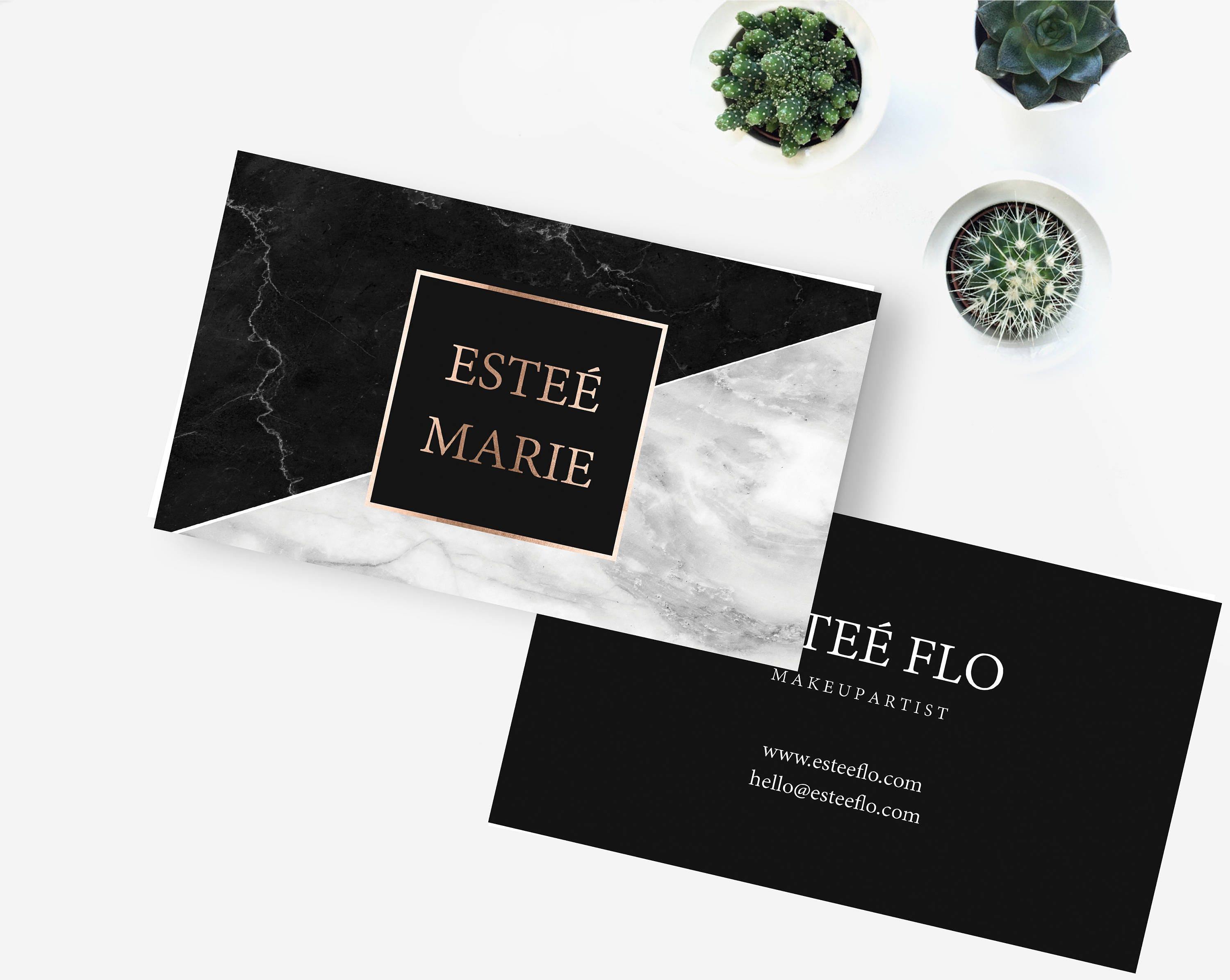 Black marble business cards, Black marble and grey marble business ...