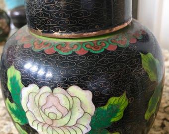 Vintage cloisonne enammel Jar