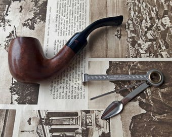 Vintage Adventure Denicotea Pipe with Tool,9 mm filter Denicotea Adventure Smoking Pipe