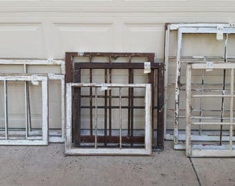 Vintage Farm Windows Multi-Pane Chippy Paint