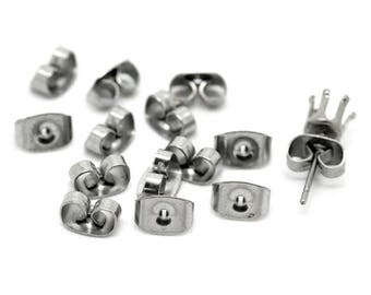 10 snaps security stainless steel for earrings