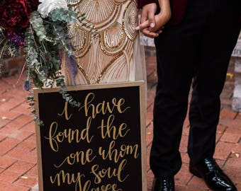 Song of Solomon Chalkboard Sign