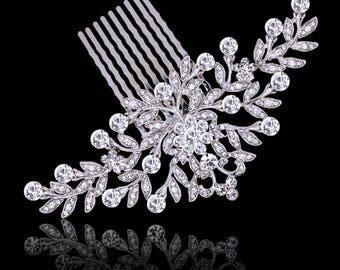 Bridal Crystal Hair Comb, Bridal Hair Accessory, Wedding Jewellery, Crystal, Victorian Style,