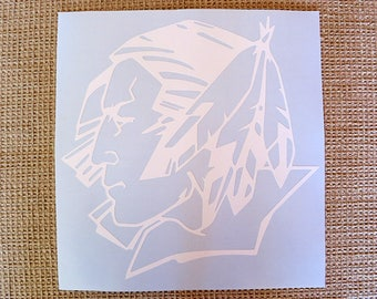 Fighting Sioux Vinyl Decal .