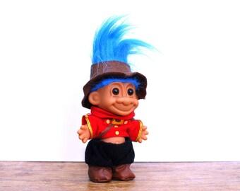 Russ troll doll , collectible troll , blue hair troll , vintage troll ,