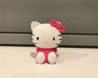3D Printed/Painted Hello Kitty Figurine