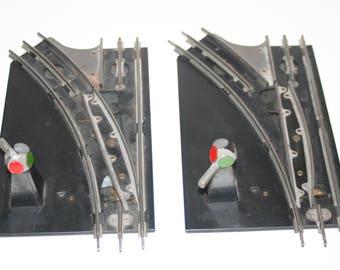 Vintage 1950-60's Lot of 2 MARX O-Gauge Trains Manual Switch Tracks