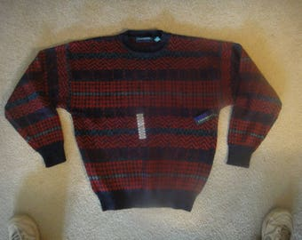 vintage 80's Claybrooke Sweater  NWT    vintage mens sweater  size large Mens
