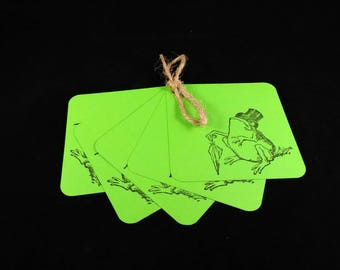 ON SALE, Gift tags, price tags, blank gift tags, decorated gift tags, party favor, frog, toad, green.