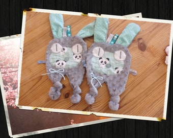 set of two dishes toys and pacifier