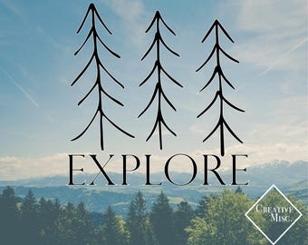 Explore Decal - Computer Decal - Car Decal