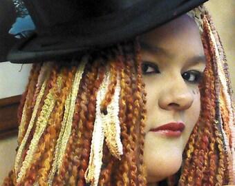 Custom Renaissance - Rave - Steampunk - Costume Yarn Fall Hair Pieces