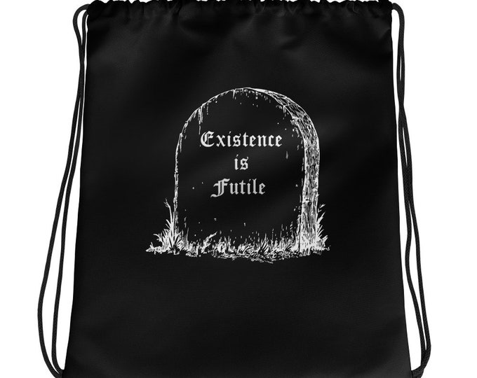 Existence is Futile Drawstring Backpack