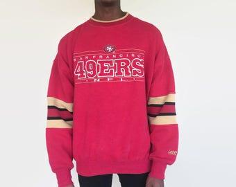 San Francisco 49ers sweatshirt / vintage 90s retro 80s San Francisco 49ers NFL football sweater / mens womens large xl vintage shirt jersey