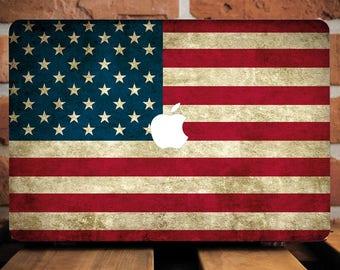 USA Flag Macbook Pro 13 Case Macbook Pro 15 Sleeve MacBook 12 Cover Patriotic MacBook Hard Plastic Case Mac Air 11 Case Laptop Case WCm223