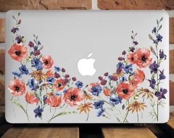 Flowers Poppies MacBook Case MacBook 12 Laptop Cover MacBook Pro Case MacBook Air 11 Cover MacBook Pro 13 Case MacBook Pro Retina 15 WCm064