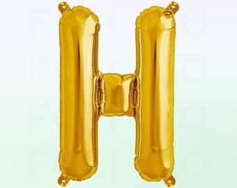 Metallic Gold Letter H Balloon | Gold H Balloon | Gold Letter H Balloon | Jumbo Letter H Balloon