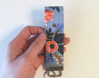 Rifle Paper Co. Key Fob Wristlet- Large Floral Print