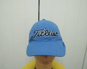 Rare Vintage TITLEIST Embroidered with USA Flag Cap Hat Free size fit all