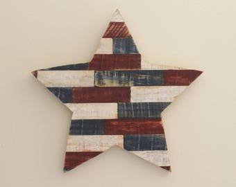 Rustic Patriotic Star Made From Reclaimed Pallet Wood