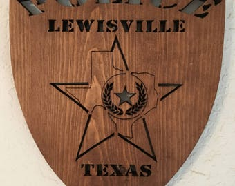 Lewisville Police Dept Shield