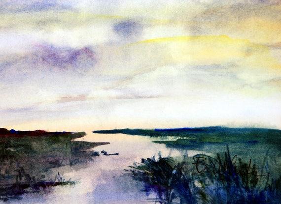 Columbia Gorge original 8x10 #7 - Bonnie White painting - Columbia Gorge art - pacific northwest - original watercolor - watercolor
