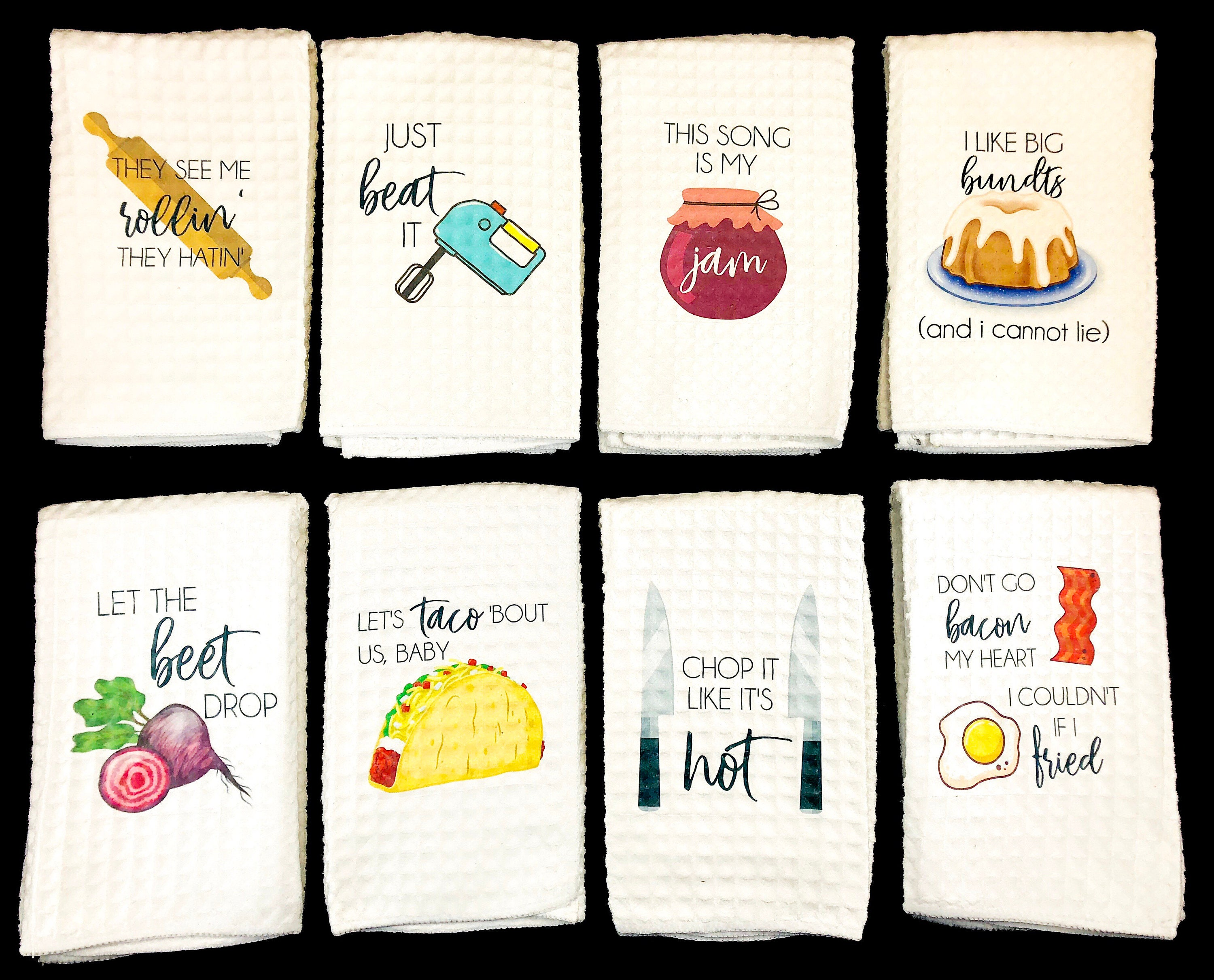 Funny Kitchen Towels Song Lyric Towels Funny Tea Towels
