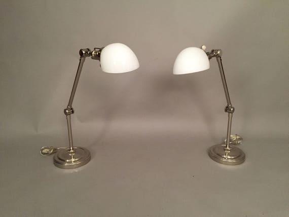 Restoration Hardware company chrome Desk Lamps