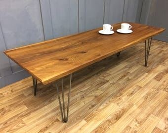 Elm Coffee Table with hairpin legs