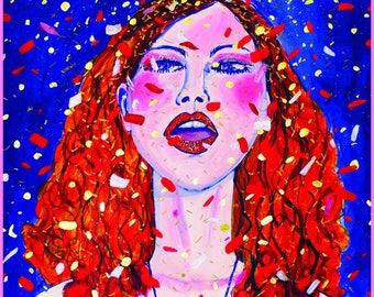 Glitter Girl Fine Art Print A3